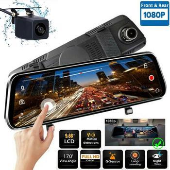 10inches HD 1080P Dual Lens Car DVR Dash Cam Video Camera Recorder Rearview Mirror Car DVR Gps Navigator Car Styling phisung f900 10in 1080p hd car rearview mirror dvr camera g sensor dash cam