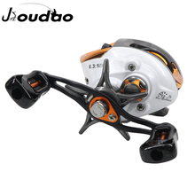 цены Jioudao LP Baitcasting Reel 6.3:1 High Speed Fishing Reel 10KG Max Drag Left Right Hand Reel Brake System Bass Reel Fishing