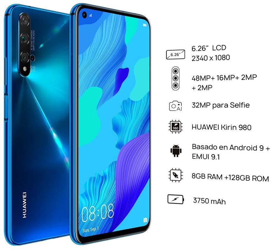 Global Version Huawei Nova 5T 8GB 128GB Smartphone 48MP Cameras 32MP Front Camera Mobile Phone 6.26'' Screen Kirin 980 Android 9