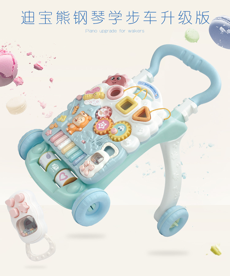 Baby Walking Car Handcart Multifunctional Intelligent Baby Walking Aid Anti rollover Toys