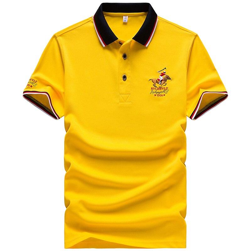 DARPHINKASA2020 Summer New Men Polo Shirt Embroidery Polo Shirt Men Casual Polo Shirt Solid Color Men Short Sleeve 4