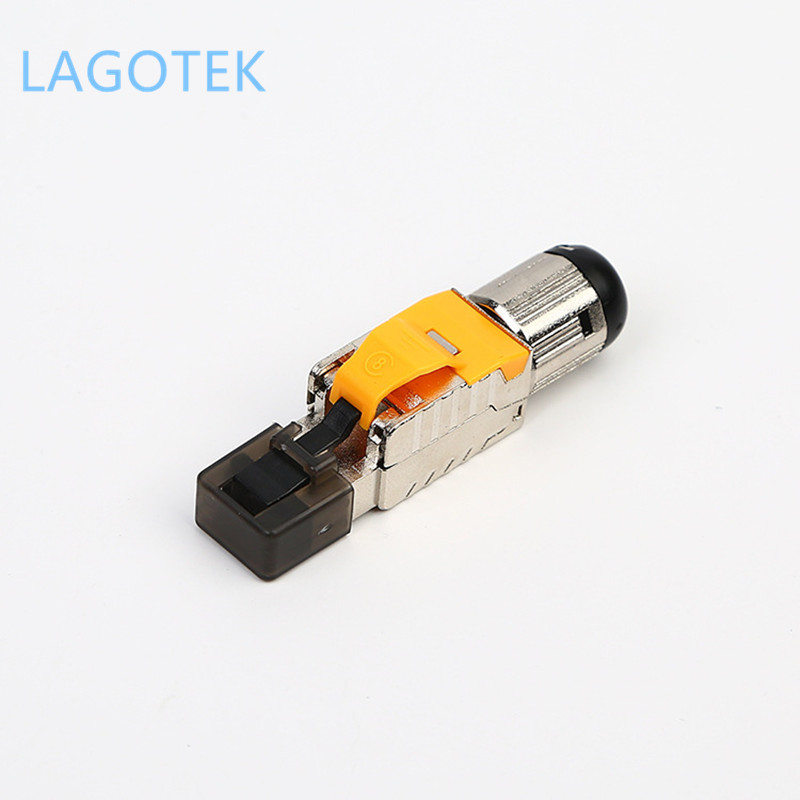 Tool-Free Shielded RJ45 Cat 8 Termination Plug Cat8 Plug / Cat8 Connector  Modular For  22/23/24AWG Cable 40GB Newtork