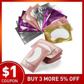 200 pairs Paper Patches Eyelash Under Eye Pads Lash Eyelash Extension Pillow Stickers Lint Free Tips Sticker Wraps Make Up Tools