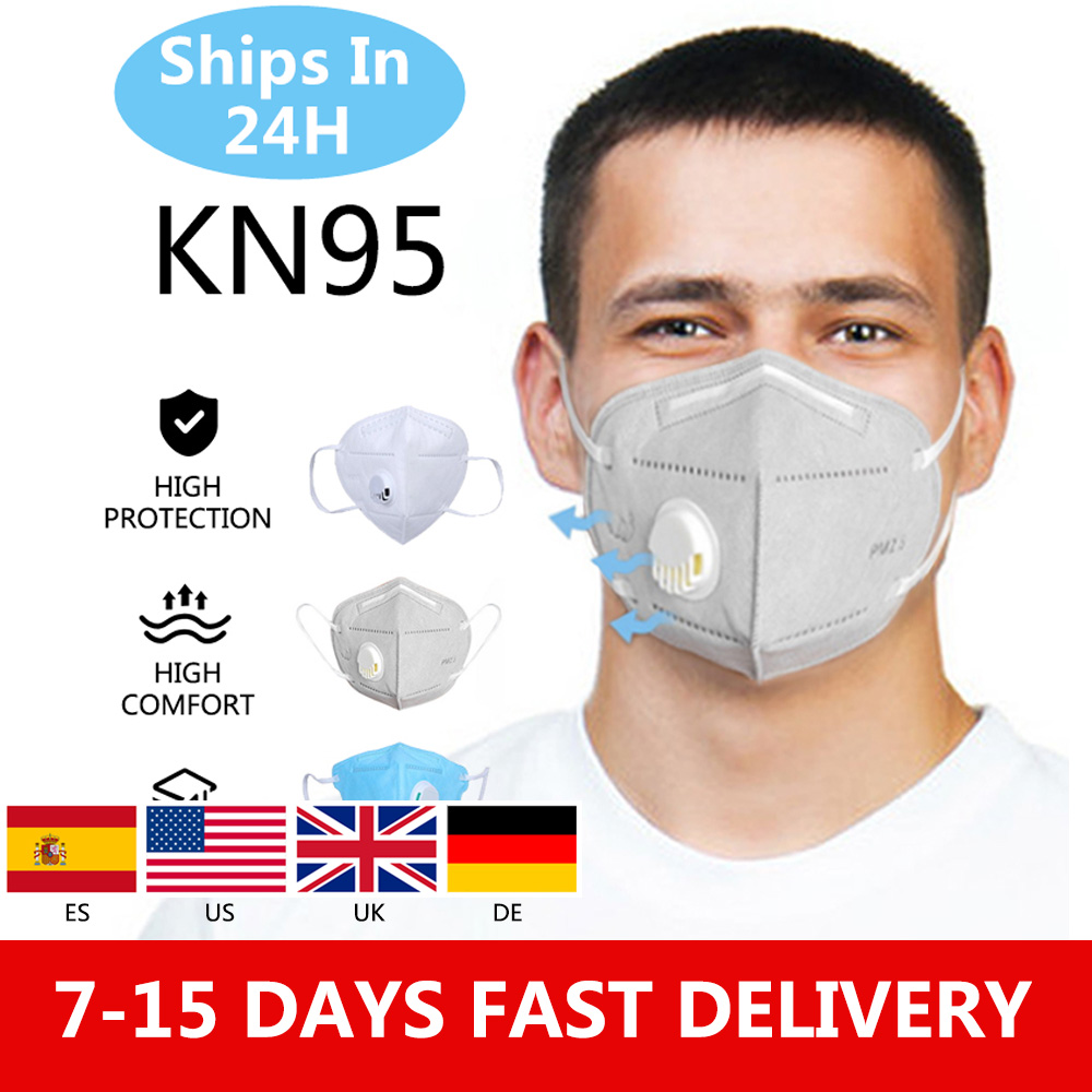 50pcs KN95 Valve Mask 5 Layer Flu Anti Infection N95 Protective Masks ffp2 Respirator PM2.5 Safety Same As KF94 FFP3|Masks| | - AliExpress