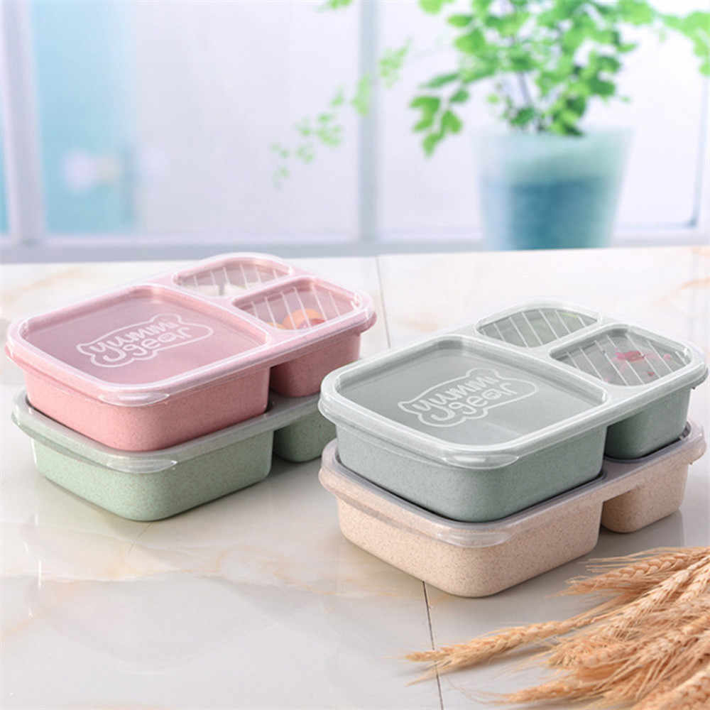 Picnic Wheat Straw Fiber Compartment Meal Storage Lunch Container Food Preparation Box Outdoor Camping Light Meal Lunch Box #10