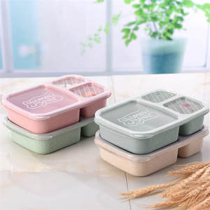 Light Lunch-Box Wheat-Straw Meal-Storage Food-Preparation-Box Fiber-Compartment Outdoor