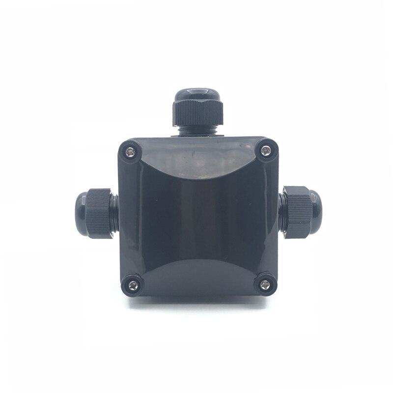 Cable eléctrico IP68, conector resistente al agua en forma de t, 2 de 3 pines, caja de conexiones eléctricas de plástico ABS resistente al agua para exteriores