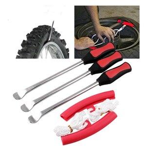 Набор инструментов JQSKUNP для замены шин, набор инструментов с ложкой для железа, с прочным мешком, для мотоцикла и велосипеда, 3 ложки