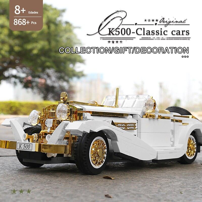 MOULD KING 10003 The K500 Vintage Car Model Building Blocks