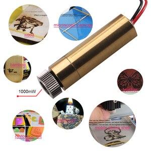 Image 2 - 1000 mw 405nm 바이올렛 라이트 레이저 헤드 cnc 라우터 레이저 커터 diy 조각 조각 기계 레이저 조각기 액세서리