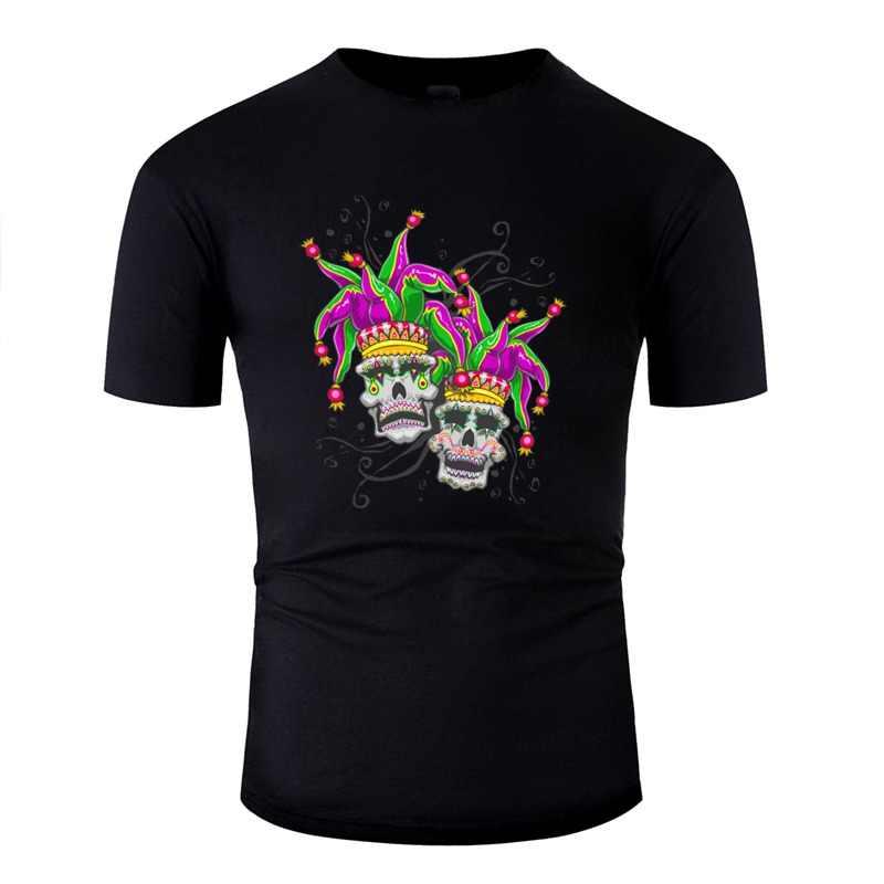 Индивидуальные Марди Гра браслет комедия трагедия Шут сахарный череп футболка