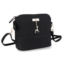 цена на HaoYun Women's PU Messager Bags Fashionable Plaid Pattern Small Deer Pendant Shell Shape Girls Shoulder Handbag Casul Zipper Bag
