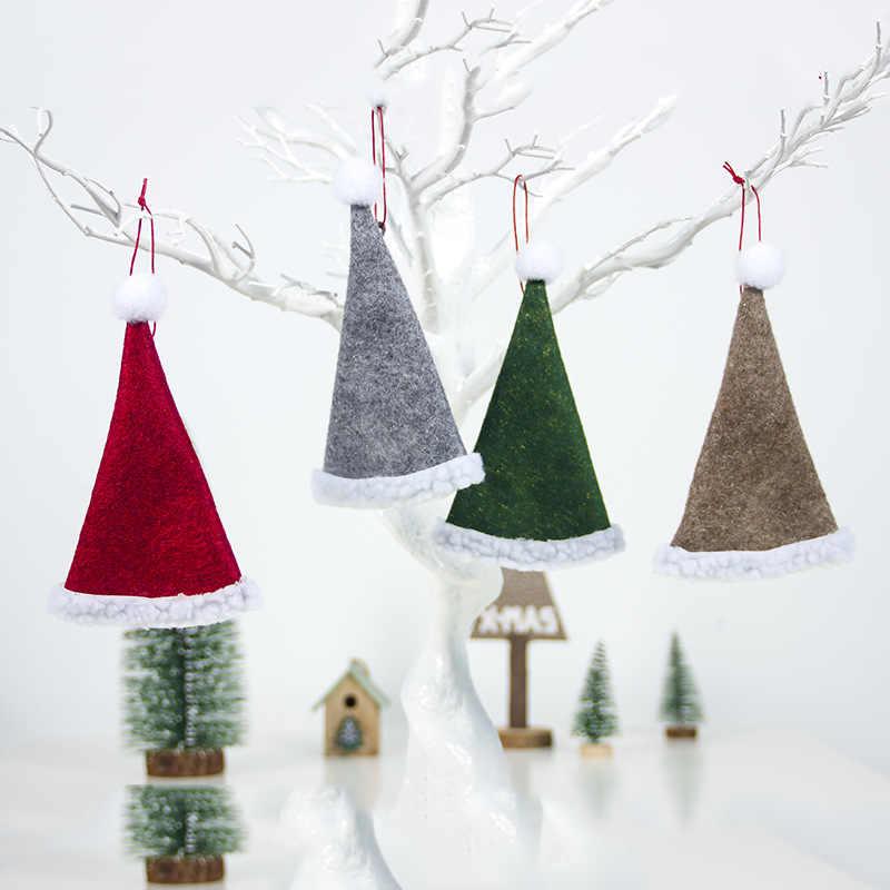 Nowy rok ozdoba choinkowa z naturalnego drewna drewniana ozdoba do zawieszenia prezenty świąteczna dekoracja z wisiorków Navidad dla domu