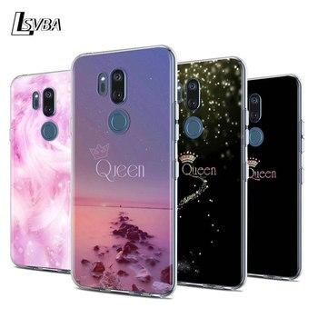 Перейти на Алиэкспресс и купить Чехол для телефона King Queen с перьями для LG W30 W10 V50S V50 V40 V30 K50S K40S K30 K20 Q60 Q8 Q7 Q6 G8 G7 G6 ThinQ