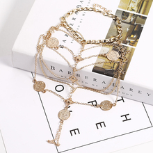 Summer Beach Barefoot Anklets Vintage Multilayer Tassel Coin Ankle Bracelet For Women Bohemian Fashion Jewelry Accessory 2019