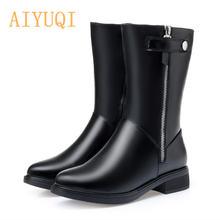 Aiyuqi/женские сапоги из натуральной кожи; Новинка 2020 года;