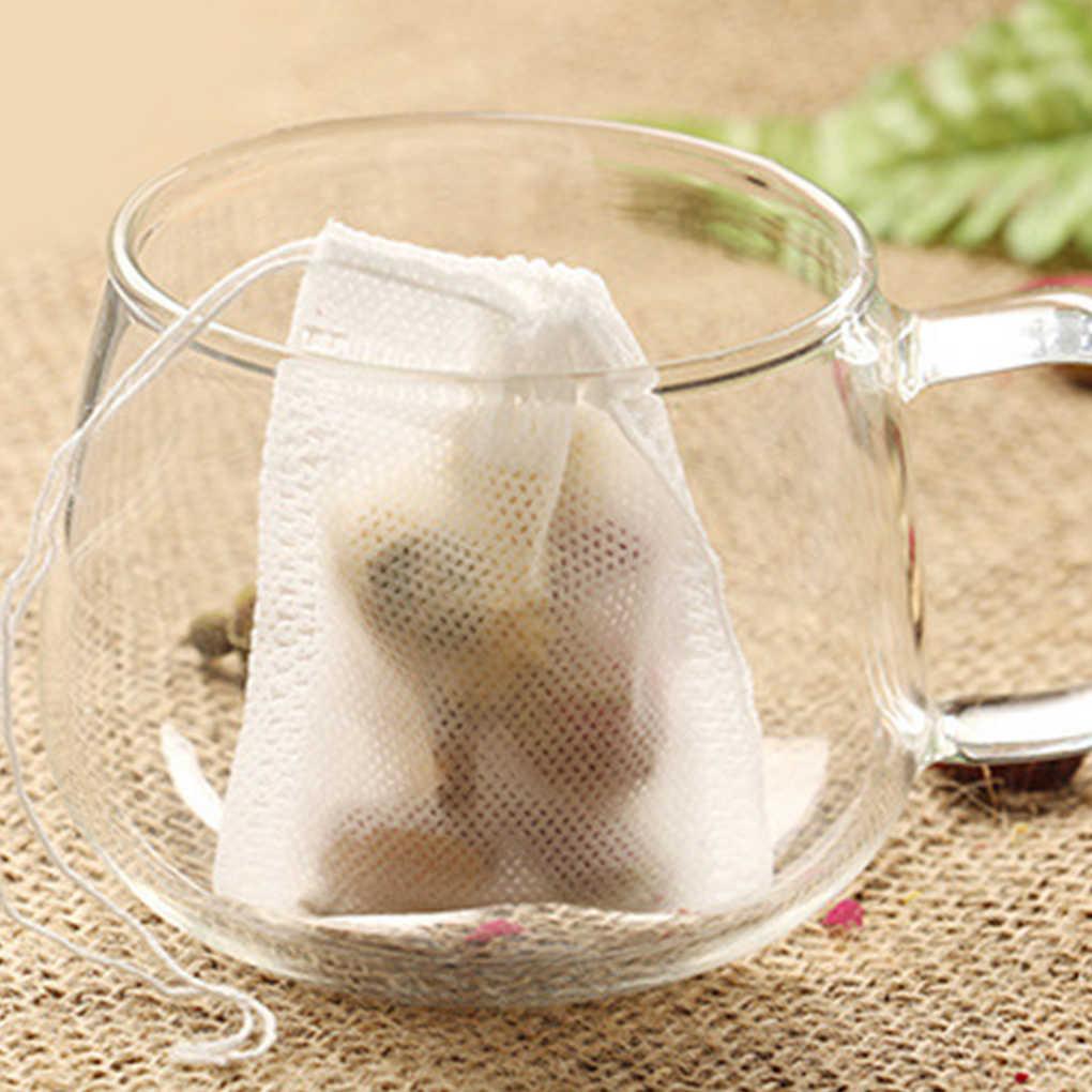 100 Pcs/Lot Teebeutel 5x7 CM Leere Duftenden Tee Taschen Mit String Heilen Dichtung Filter Papier für kraut Lose Tee