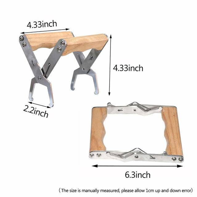 Wooden Bee Hive Frame Holder Grip Tool for Beekeeping 6