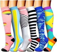 57 estilos de compressão meias resistência homens mulheres crossfit meias de enfermagem médica apto para ciclismo viagem vôo esporte meias