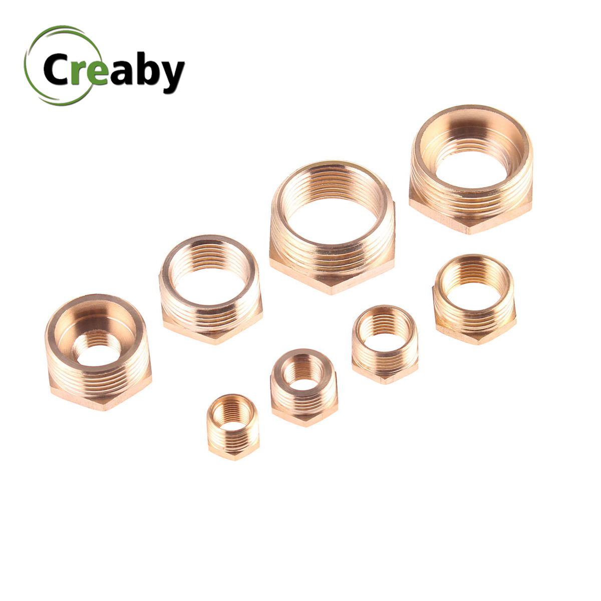 3//8BSP to 1//4BSP Male Thread Pipe Fitting Hex Reducing Nipple Gold Tone