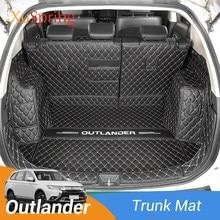 Caixa traseira do carro durável tronco esteira capa protetora almofada forro de carga para mitsubishi outlander 2013-2020 carro-estilo