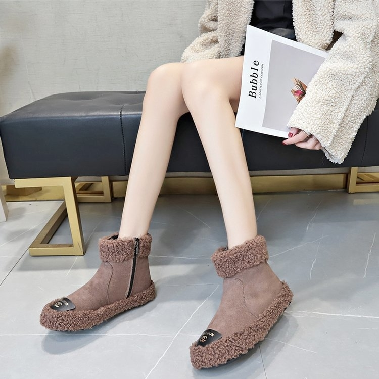 Women Boots 2019 New Plush Snow Boots For Winter Shoes Women Casual Lightweight Ankle Botas Mujer Warm Winter Boots Female 85