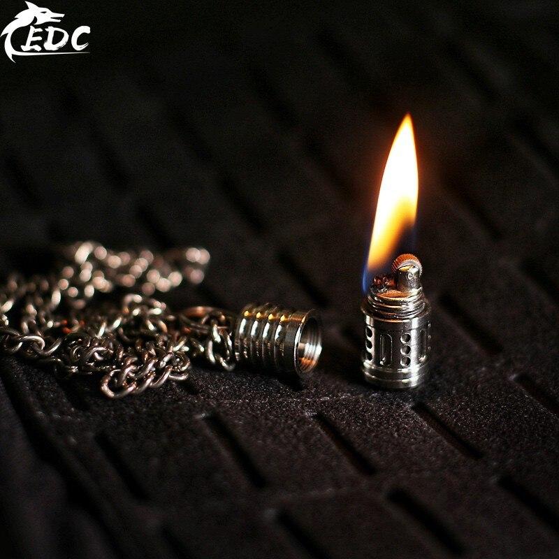 A194 EDC Titanium Alloy Titanium Horse Mini Kerosene Lighter Body (No Oil) Pendant Portable Keychain