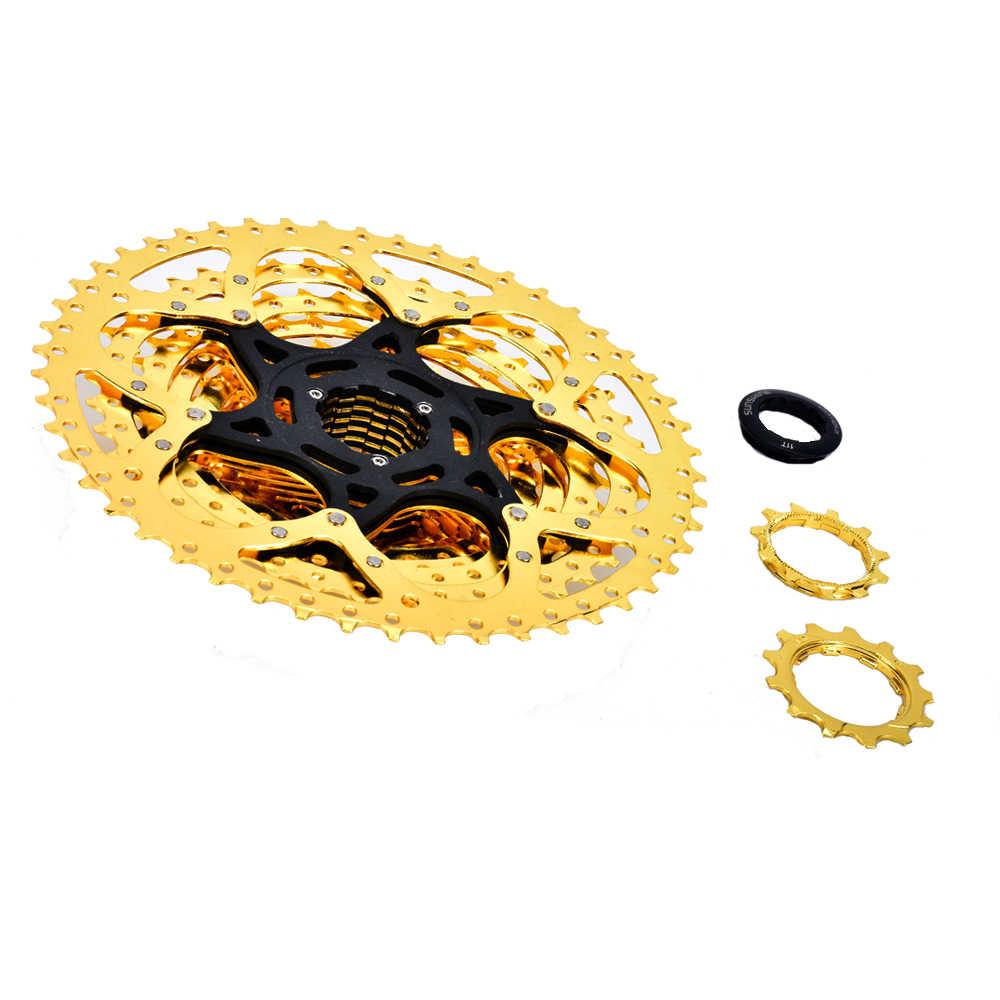 دولاب الموازنة 11 22 33 سرعة 11-50 T دراجة جبلية جذافة ذهبية دولاب الموازنة لشيمانو/SRAM كاسيت جذافة