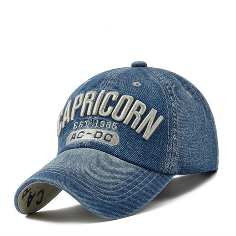 New CAPRICORN 3D Letter Embroidery Baseball Cap Outdoor Sports Golf Caps Trucker Hat Men's And Women's Universal Hats