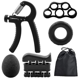 6PC/Set Gym Fitness Adjustable Hand Grip Set Kit Finger Forearm Strength Muscle Recovery Hand Gripper Exerciser Trainer