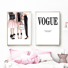 Wall Art Canvas Prints Fashion Girl Logo Super Model Wall Art Canvas Painting Watercolor Nordic Posters For Living Room Decor