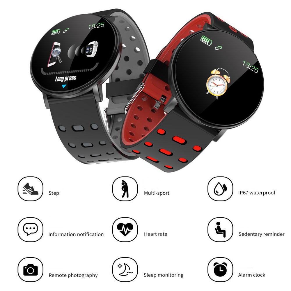 pedometer wristband bracelet wristband Smart heart rate monitoring Men's and women's sports pedometer