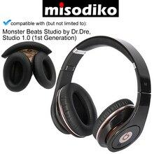 Misodiko cojines de repuesto almohadillas para las orejas y Diadema para Monster Beats Studio by Dr.Dre, piezas de reparación de auriculares almohadillas para las orejas diadema