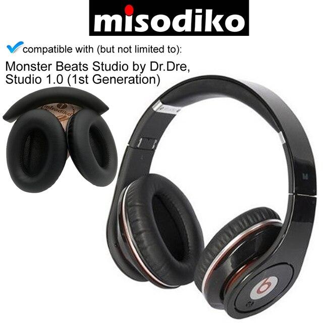 Misodiko استبدال وسائد بطانة للأذن و عقال ل الوحش فوز ستوديو الدكتور. دري ، سماعات إصلاح أجزاء قطع الأذن عقال