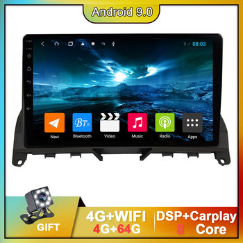 OKNAVI 9 inch Car Android 9.0 Radio Multimedia Video Player For Mercedes Benz C Class W204 S204 2007-2014 Carplay Camera No DVD image