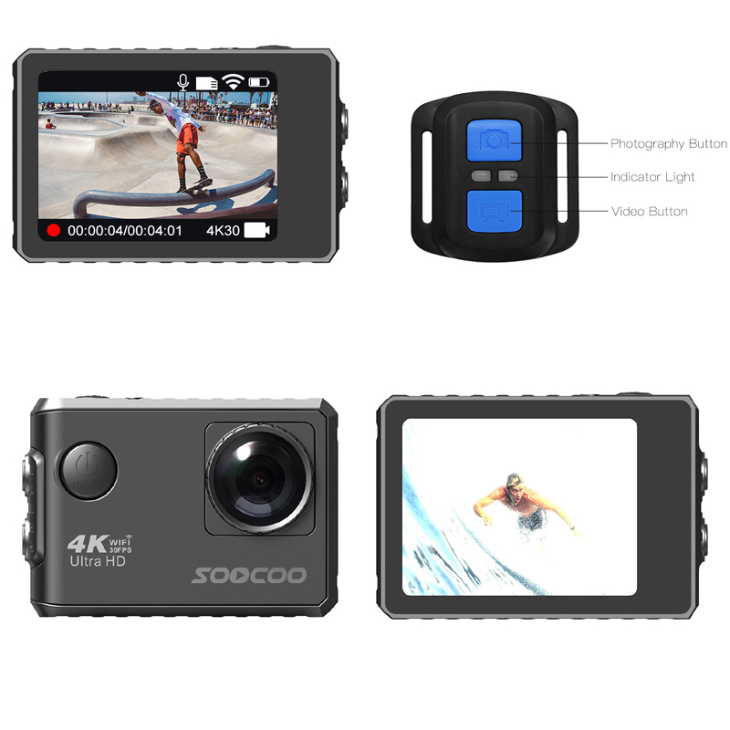 SOOCOO F500 4K WIFI Action Sports Camera Ultra HD Waterproof Underwater DV Camcorder image