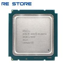 Usado intel xeon e5 2697 v2 2.7ghz 30m qpi 8gt/s lga 2011 sr19h c2 e5 2697v2 processador central 100% trabalho normal