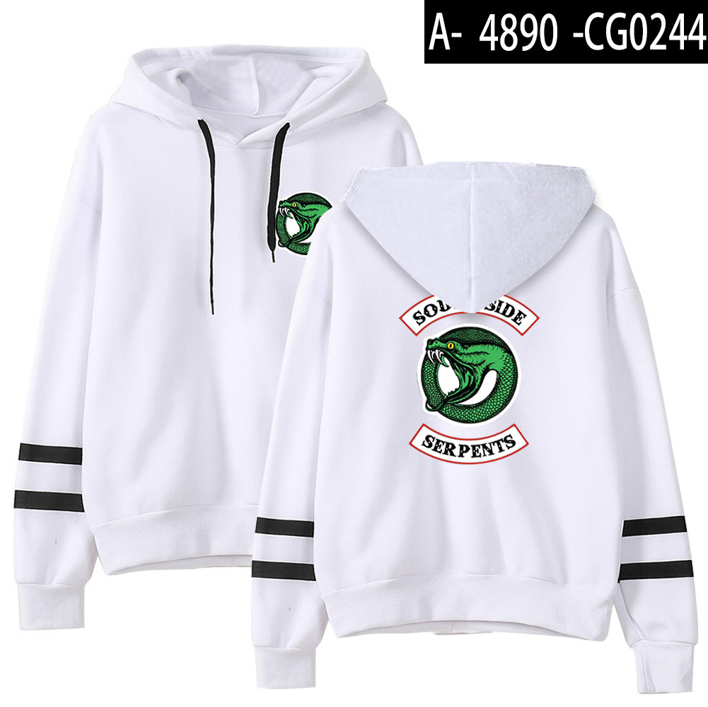 Riverdale Southside Serpents Hoodies Sweatshirts MenS Women South Side Serpents Hoodie Long Sleeve Striped Pullover Top Oversize 7