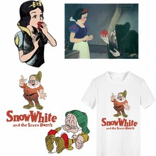 Snow White and The Seven Dwarfs Iron on Princess Patches for Clothes DIY Kids Clothing DIY Shirt Thermal Transfer Vinyl Stickers