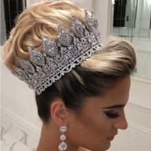 ASNORA luxury bridal hair accessories ladies wedding tiaras and crowns stage awards Round queen crown retro men's crown A00901