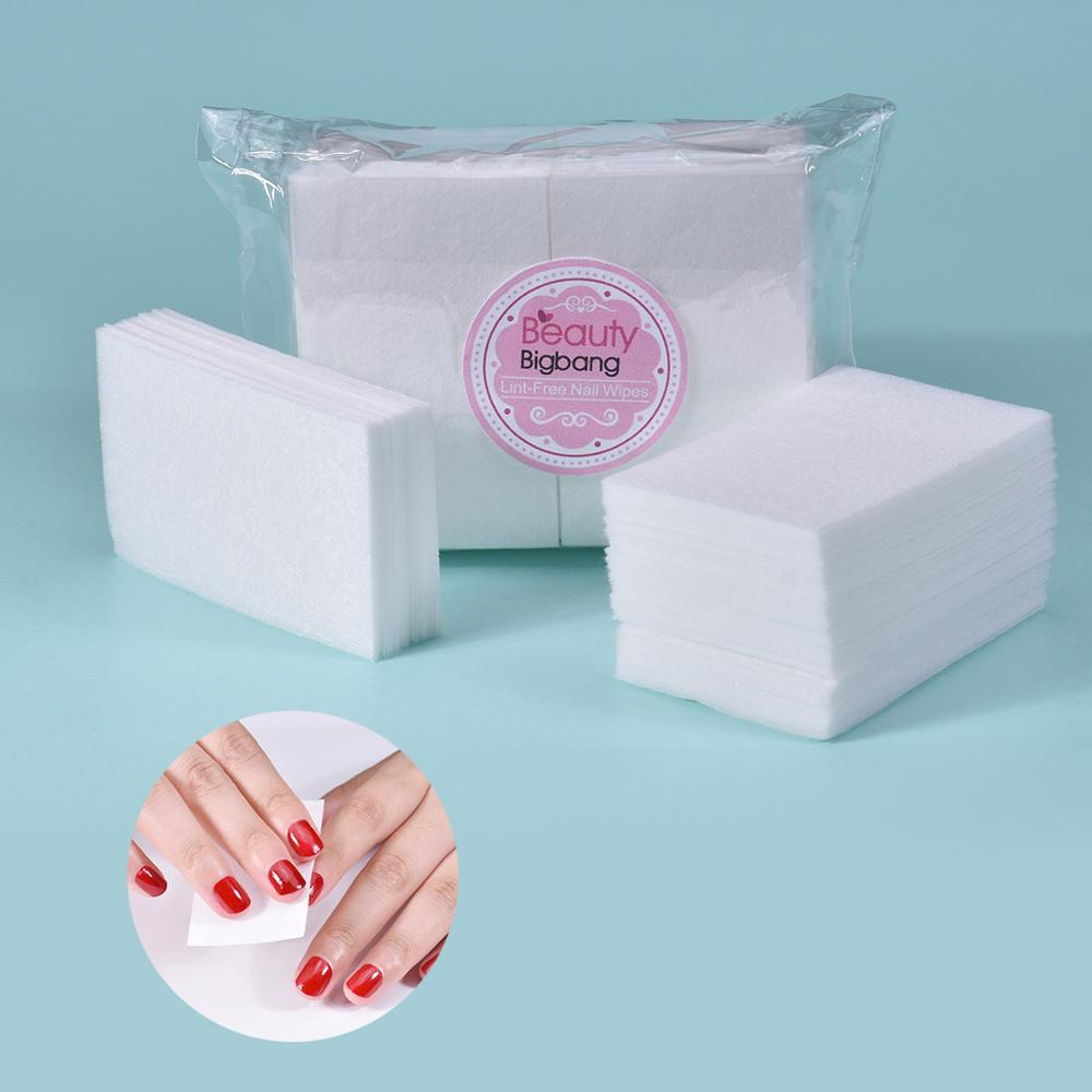100PCS/Lot 100%Cotton Gel Nail Polish Remover Nail Wipes Bath Manicure Magic Cleaner Wipes White Nail Art Gel Remover Cleanser