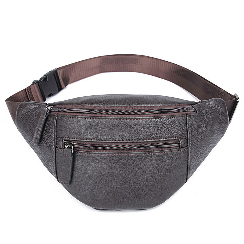Shoulder Chest Running Bag Men's Leather New Style Running Casual Sports Cash Storage Hip Hop Mobile Phone Small Runni