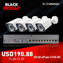 Ip-Camera Poe-Kit Surveillance-Alarm H.265-System Security-Up CCTV G.craftsman Outdoor