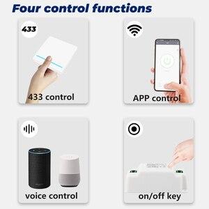 Image 3 - SMATRUL Tuya ścienny inteligentny APP WiFi włącznik światła 1/2/3 Gang bezprzewodowy RF 433Mhz Push przycisk DIY moduł przekaźnika czasowego przekaźnika Google Alexa domu