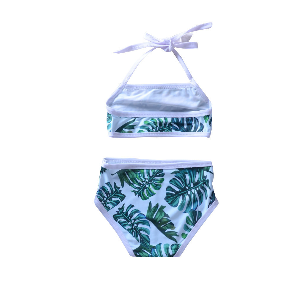 2020 New Style Girls Cute Printed One-piece Swimming Suit Medium-small Baby Girls Split Halter Camisole Swimwear