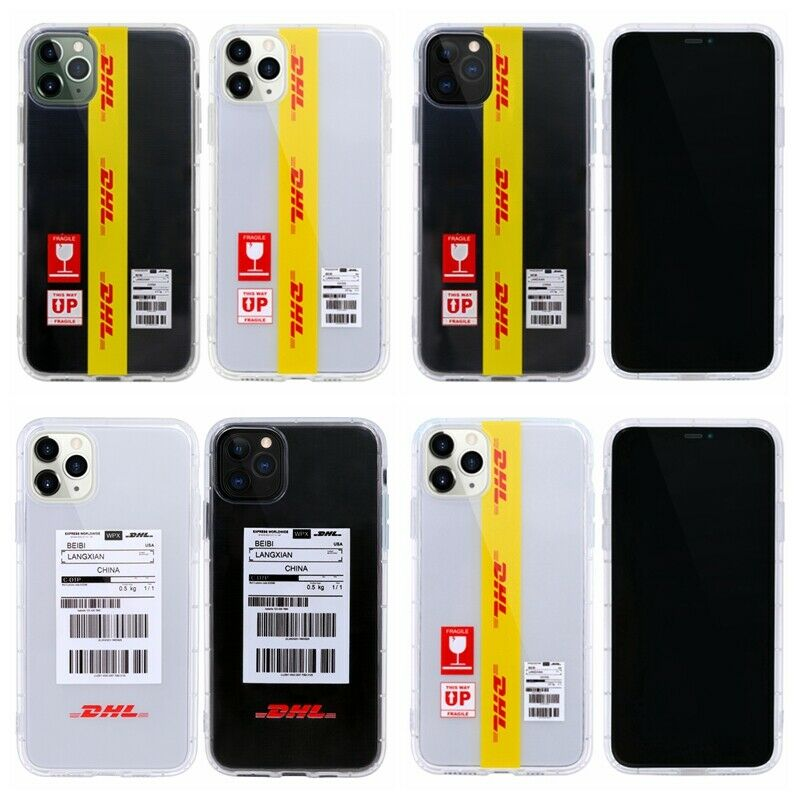 Fashion Street Tide Style DHL Express <font><b>Off</b></font> <font><b>White</b></font> Clear soft Phone <font><b>Case</b></font> Cover For <font><b>iPhone</b></font> 11 Pro Max XS XR 8 <font><b>7</b></font> Plus image