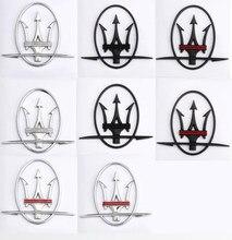 Autocollant ABS pour Maserati Granturismo Quattroporte Ghibli Levante GT, emblème de voiture, Badge, accessoires de style, 2 pièces