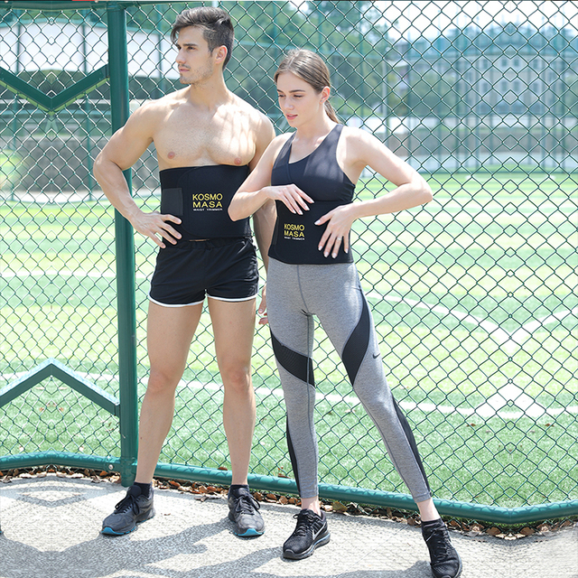 KOSMO MASA Corset Latex Cinchers Waist Trainer Belt For Men Waist Trimmer Tummy Slimming Neoprene Body Shaper Shapewear WT014 4