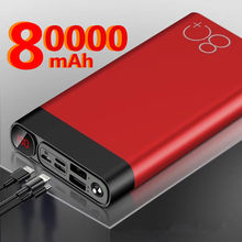Power Bank 80000mah Portable Charging Charger Powerbank 50000 mah Mobile Phone External Battery Pack Poverbank For Xiaomi mi(China)