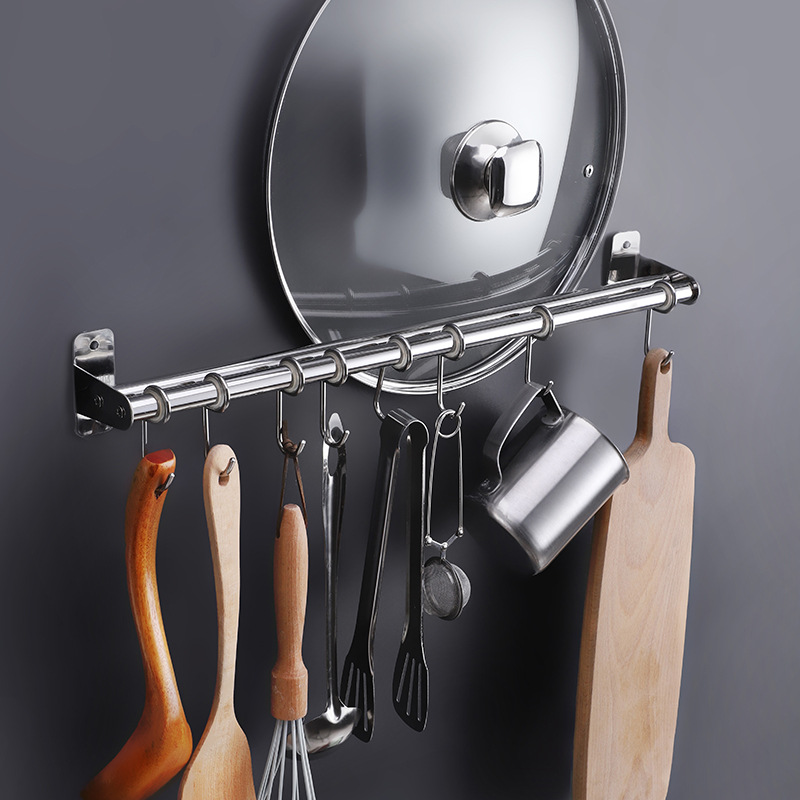 And 304 Stainless Steel Kitchen Storage Shelf Wall Hangers Rod Storage Rack Stainless Steel Kitchen Hanging Rod Storage Shelf